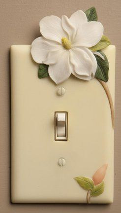 Magnolia Hand Painted Switchplate Cover Single Pole Style - Ibis & Orchid Design Ibis & Orchid http://www.amazon.com/dp/B005NJX6Q8/ref=cm_sw_r_pi_dp_1DEEub1X4KFH9