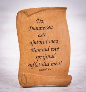 """Tablou din lemn """"Da, Dumnezeu este ajutorul meu"""". #woodenboard"""