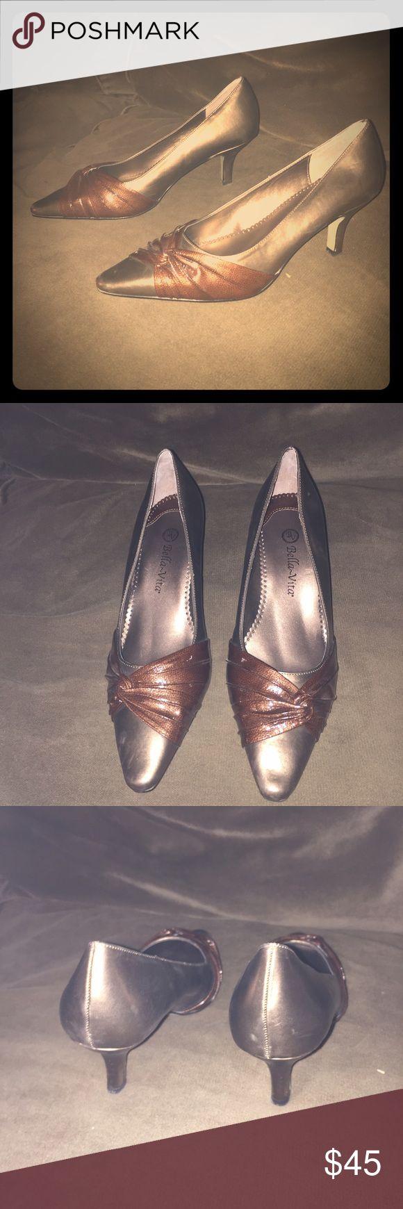 BRAND NEW BELLA VITA HEELS . Gorgeous! NWOT NEVER WORN. Wide. Bella Vita Shoes Heels
