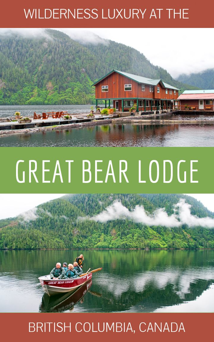A stay at the Great Bear Lodge in British Columbia – a luxury escape in the wilderness among the grizzly bears of Canada's Great Bear Rainforest.
