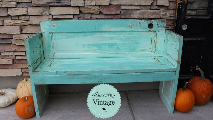 How to build a bench out of an old Door | DIY Bench | Jami Ray Vintage - YouTube
