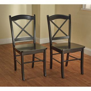 Country Cottage Black Dining Chairs (Set of 2) $96.63