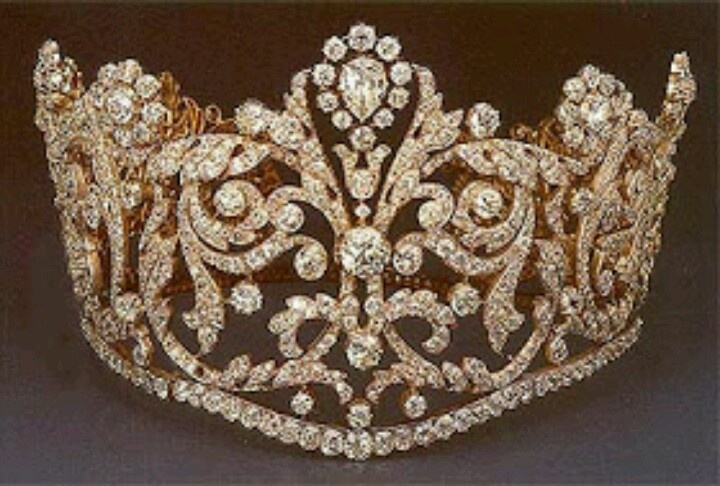 A large diamond crown of the Empress Josephine of France, first wife of Napoleon I.