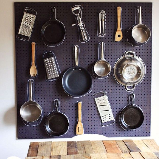 You know you've been in Corrections toooo long when you shadow board your pots and pans at home!  ;)