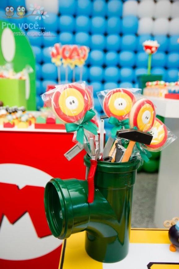 Mario Bro Cake Pops