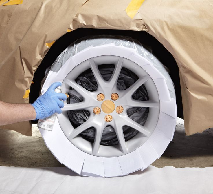 Give your car rims a sleek silver look with Peel Coat. This temporary peelable coating protects rims, withstands car washes, yet peels off when you're ready to remove it. Looking good!