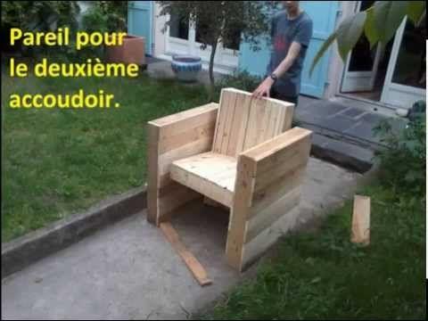 FACILE : Fabriquer votre fauteuil de jardin | intérieur en bois de palette - YouTube