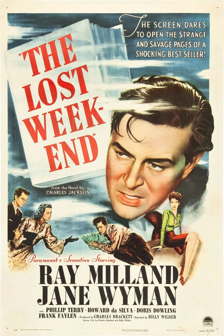 THE LOST WEEKEND (1945, United States).