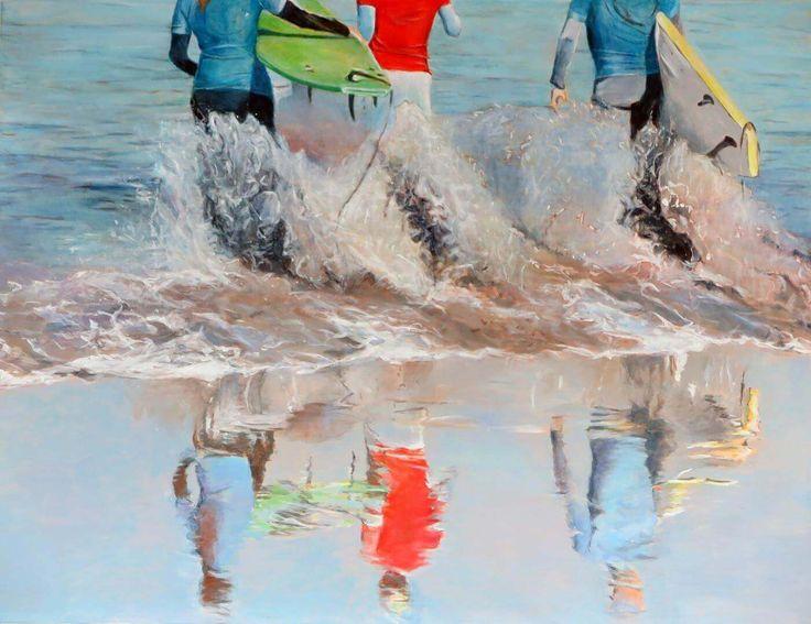 Famara II Malerei von Monika Kilders.
