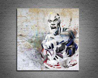 TOILE impression Bodybuilding Art, affiche Bodybuilder, Phil Heath Mr. Olympia sport Illustration impression, aquarelle, dessin contemporain