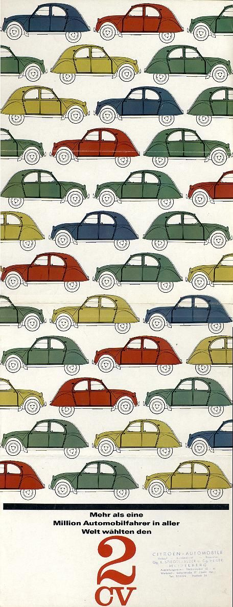 1960s vintage Citroën brochure - I would love one of these cars...