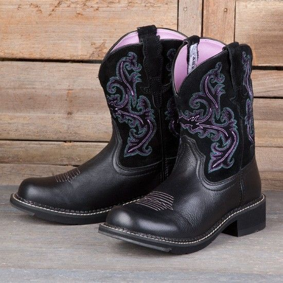 Ariat Ladies' Black Fatbaby Boots | Western Wear | Pinterest ...