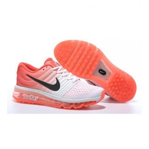 Nike Dámské - Levny Nike Air Max 2017 Dámské Běžecké Boty Bílý Oranžový 0529
