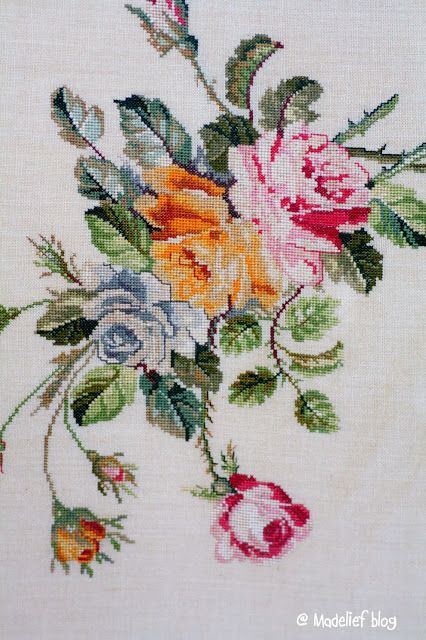 Madelief: vintage. cross stitch