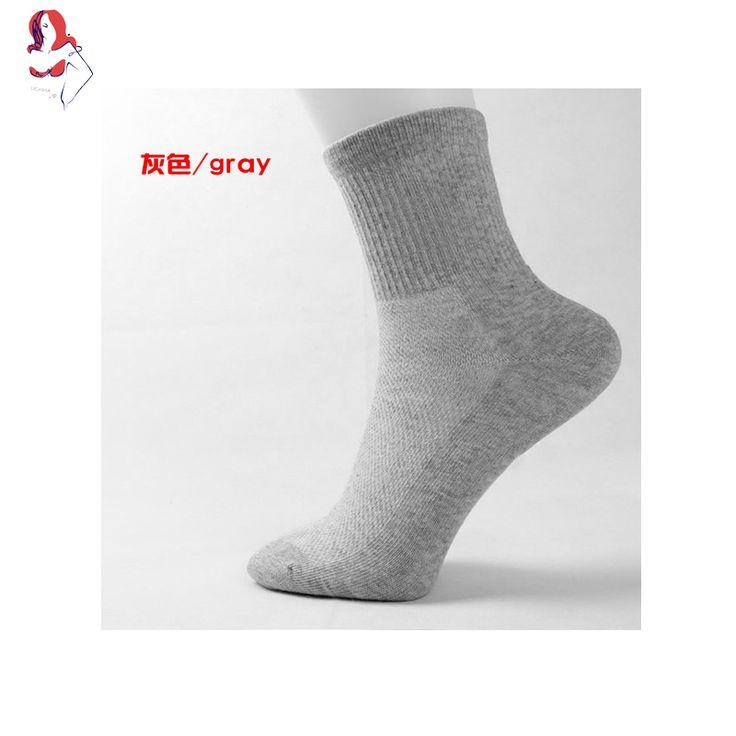 UCHIHA LQ Men Socks Classic Solid Black&White&Grey Breathable Deodorant 1Pair/lot Sneakers For Men Every Weekday Cheap Socks