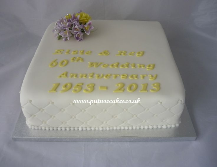 Diamond Wedding Anniversary Gifts For Grandparents: 60th Wedding Anniverary Cake