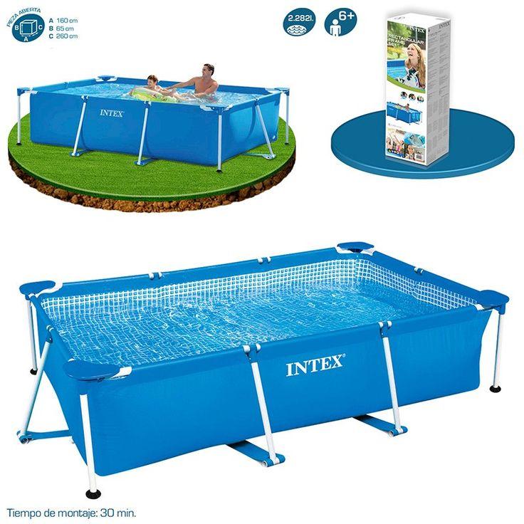 M s de 25 ideas incre bles sobre piscinas intex en for Ofertas piscinas desmontables rectangulares