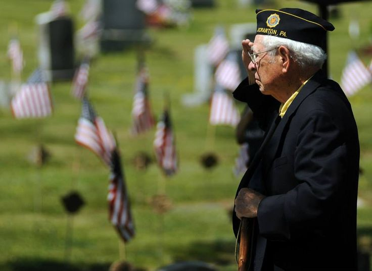 #FoxNews .........    World War II U.S. Army Air Corps Veteran Gene Gallagher, 88, of Clarks Summit, Pa., salutes during the playing of Taps during a Memorial Day Service at Cathedral Cemetery in Scranton, Pennsylvania.