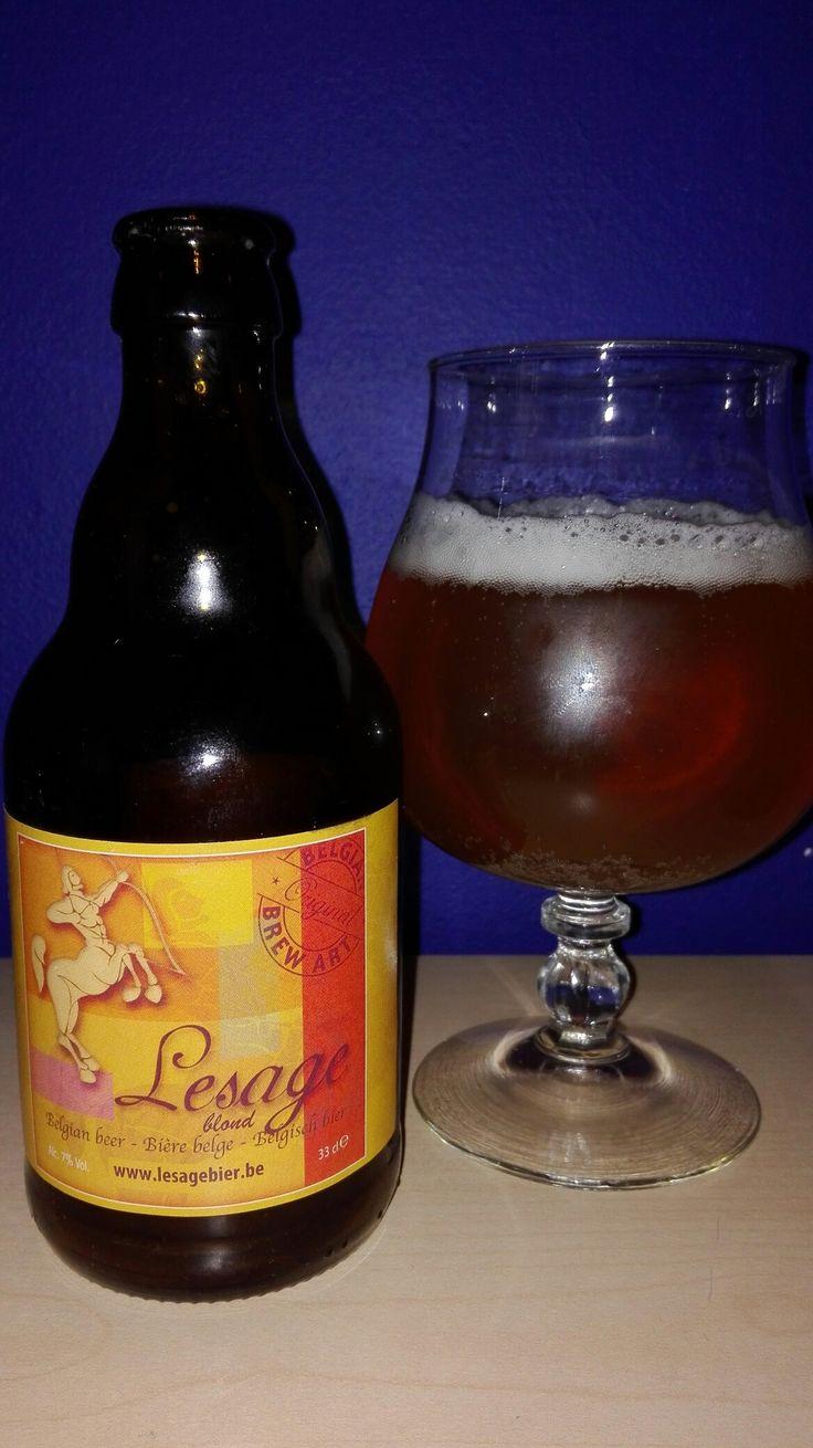 Lesage Blond, Proefbrouwerij Lochristi voor De Brouwer Linda,Sint-Niklaas #belgianbeer #bierebelge