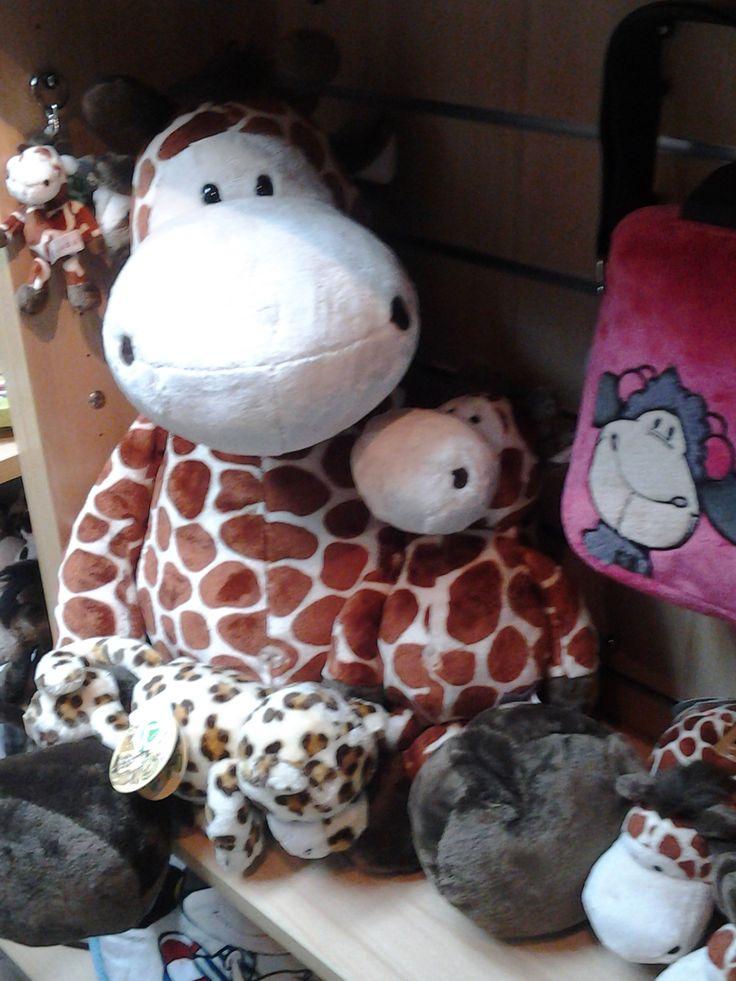 Jirafa y Lucy #nici #pekuchitienda #jirafa #jollylucy #nicifriends #amigosNici #tiendaderegalos #tiendadepeluches