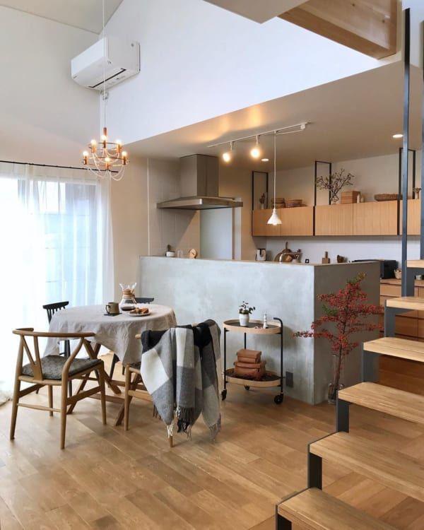 ダイニングテーブルで印象が変わる おしゃれな ダイニングインテリア 実例 Folk リビング インテリア キッチンデザイン リビング キッチン