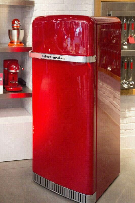 Iconic fridge kitchen aid