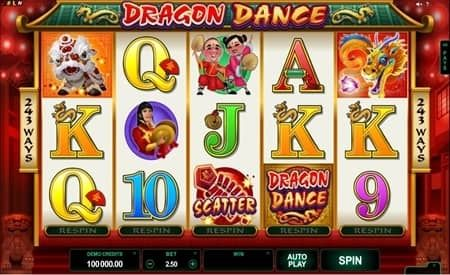 This is a review of Dragon Dance slot which has 5 reels, 243 paylines and is designed by Microgaming. Register with GoWild and get 20 Free Spins