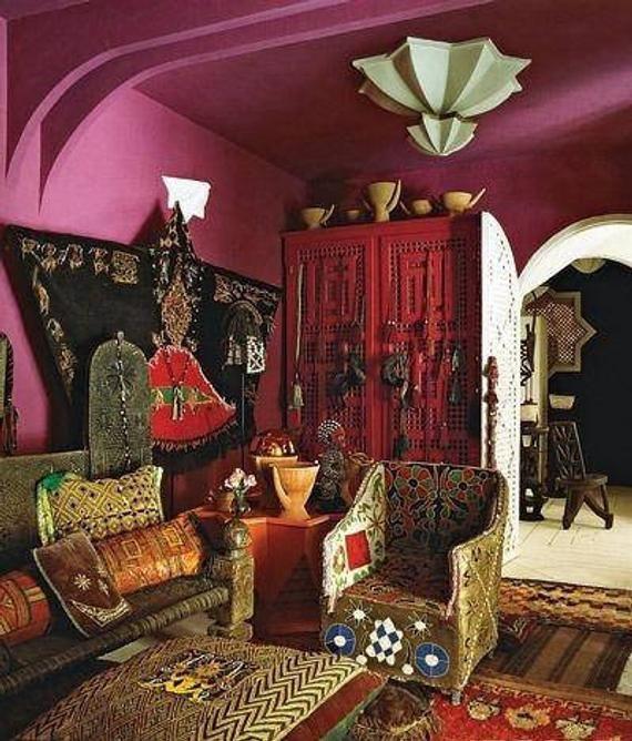 Flame Stitch Fabric Remnant Jacquard Brocade Damask