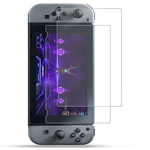 Nintendo Switch Screen Protector AK 2-Pack HD Full Coverage High Response Ultra Clear Screen Protector Guard Film for Nintendo Switch