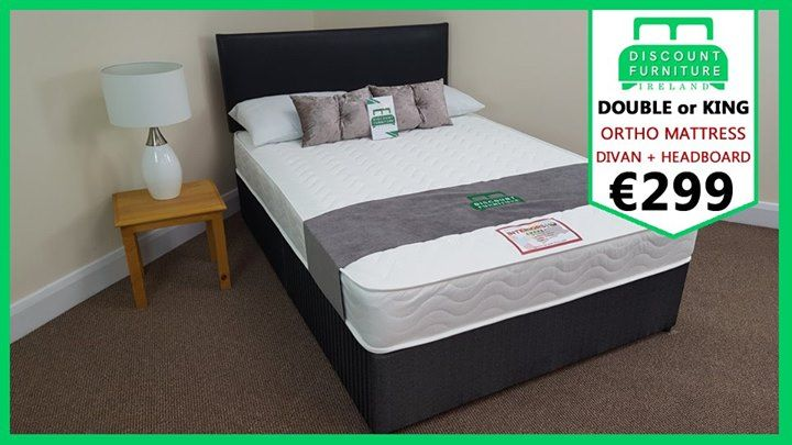 ★★★ MAY MADNESS - LIMITED STOCK ★★★ Luxury Black Bed Set including Fabric Divan Base, Leather Headboard and Orthopaedic mattress for ONLY €299 with FREE DELIVERY ANYWHERE IN IRELAND. Risk-free, Pay on delivery option available. To order, message us, or FREEPHONE 1800936901. Double & Kingsize both €299. We have over 400+ 5 star reviews and 65,000+ followers.  | ★ | 4ft Small Double Set NOW €299 | ★ | 4ft6 Double Set NOW €299 | ★ | 5ft Kingsize Set NOW €299  ★ You can ADD DRAWERS for €40 each…