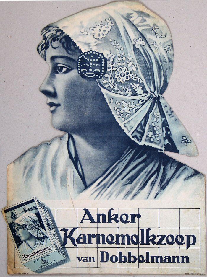 """""""Anker Karnemelkzeep — van Dobbelmann — Druk. Smeets, Weert — Reclamekunst Baarn"""""""