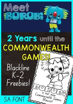 Just 2 years until the next Commonwealth Games!This bundle of printables cater to the K-2 classroom and are a fun way to get your students interested in what will be an amazing event for all Australians.If you download this product please follow me to receive notifications of other great Australian resources.Enjoy!