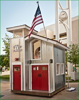 Firehouse Play Structure from A Place Imagined. Coolest thing ever?