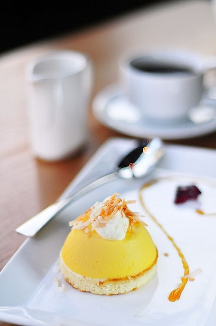 Coconut lemon Custard #plating #presentation