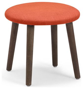 Edgewater Stool Sunkist - midcentury - Ottomans And Cubes - Zuo Modern Contemporary