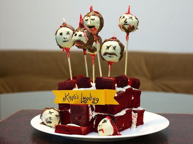 Ned Stark red velvet cake pops