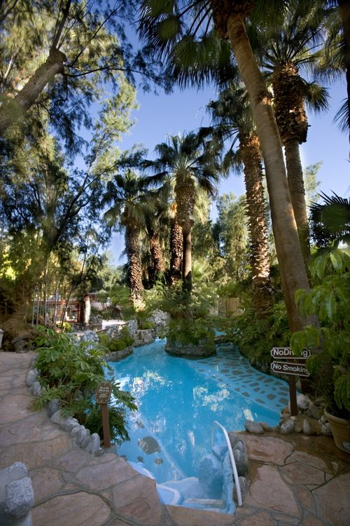 Get out of your head in the mineral springs at Two Bunch Palms