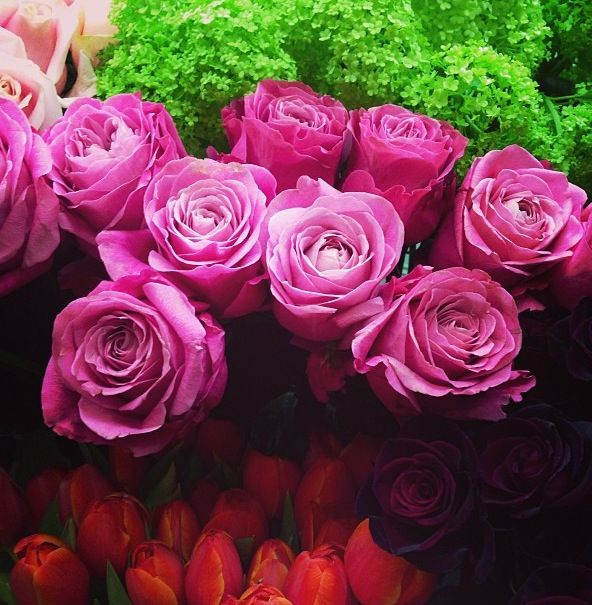 The beautiful roses from London flowers market #PiagetRose