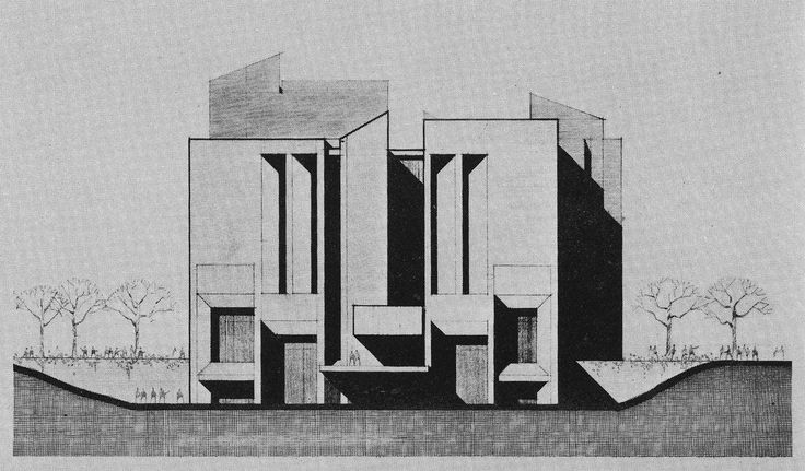 Library Learning Center, University of Wisconsin, Madison, 1972 (Project) (Daverman Associates)