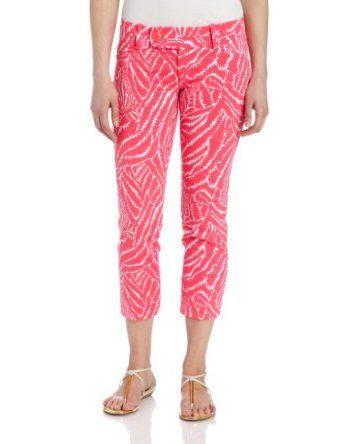 Lilly Pulitzer Women's Luxury Inseam Slim Capri, Splash Pink, 10 Lilly Pulitzer. $168.00