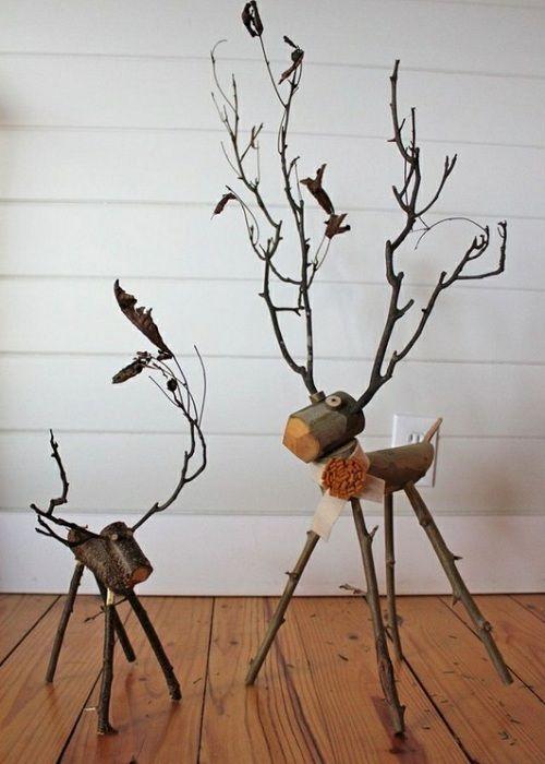 Cervatillos de ramas