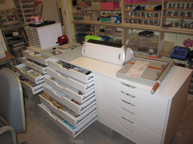 IKEA Alex drawers for scrapbooking storage