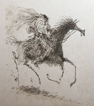 wallets mens Illustration of the headless horseman  Artsy and Whatnots  Pintere