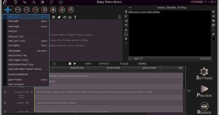 Αν ψάχνετε για ένα ισχυρό και εύκολο στη χρήση πρόγραμμα επεξεργασίας βίντεο ακριβώς για κάθε μία από τις ανάγκες δημιουργίας του βίντεο σας μη διστάσετε να κατεβάσετε το Free Easy Maker Maker με το οποίο θα μπορούσατε εύκολα να επεξεργαστείτε να δημιουργήστε υψηλής ποιότητας βίντεο ταινίες 2D 3D από διάφορες μορφές βίντεο κλιπ εικόνες ηχητικά μηνύματα στίχους κείμενα κ.λ.π. και να βελτιστοποιήστε το βίντεο δημιουργίας με την κατάλληλη μορφή εξόδου της επιλογής σας YouTube Facebook Vimeo AVI…