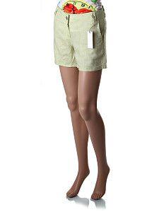 Svetlo zelené dámske šortky Thanner´s  Krátke bedrové tenké bledozelené šortky s bočnými vreckami so širším obvodom bokov (na bokoch je voľne splývavý strih). Nohavice majú pútka na opasok a ušité sú z príjemnej vzdušnej látky.  http://www.yolo.sk/damske-kratke-nohavice/zelene-damske-sortky-thanners