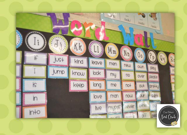 Erica Bohrer's First Grade: Bright Polka Dot Classroom Word Wall