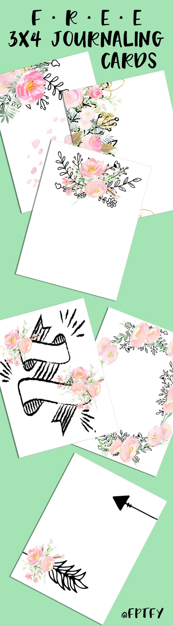 Free 3x4 journaling card printables