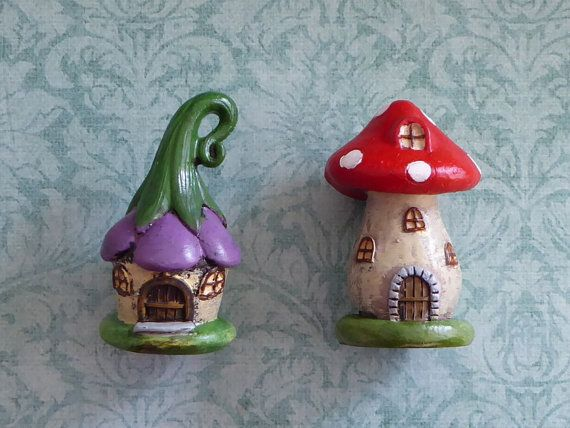 Trumpet Flower or Mushroom Cottage Fairy House Silicone Mold Cake Tool Fondant Chocolate Candy Topper Polymer Clay DIY Craft
