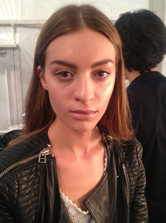 Richard Chai Spring 2014: All About the Brows