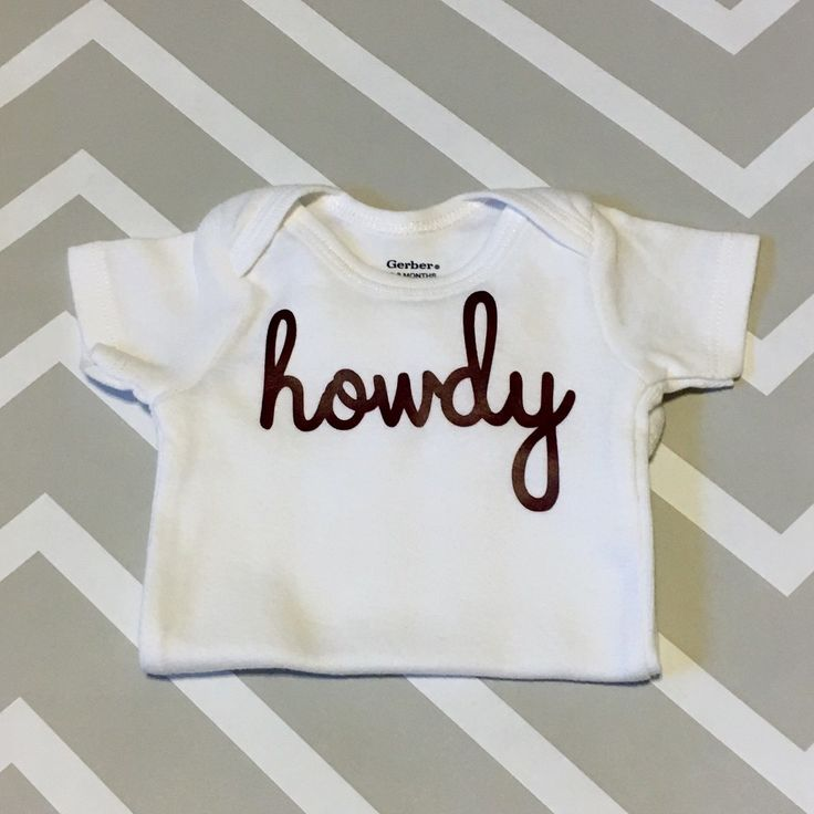Texas A&M Howdy Baby Onesie - Great Aggie Baby Shower Gift! by StarkCustomDesigns on Etsy